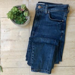 Forever 21 High Rise Blue Skinny Jeans